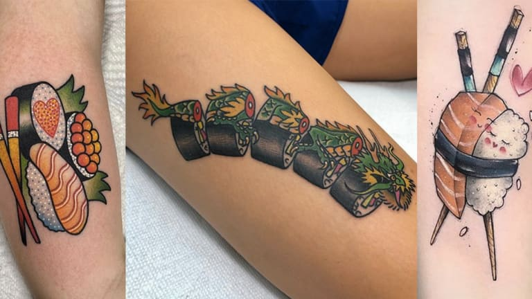 33 Rad Sushi Tattoos