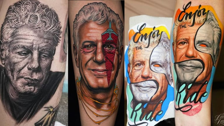 Honor Anthony Bourdain with Legendary Tattoos