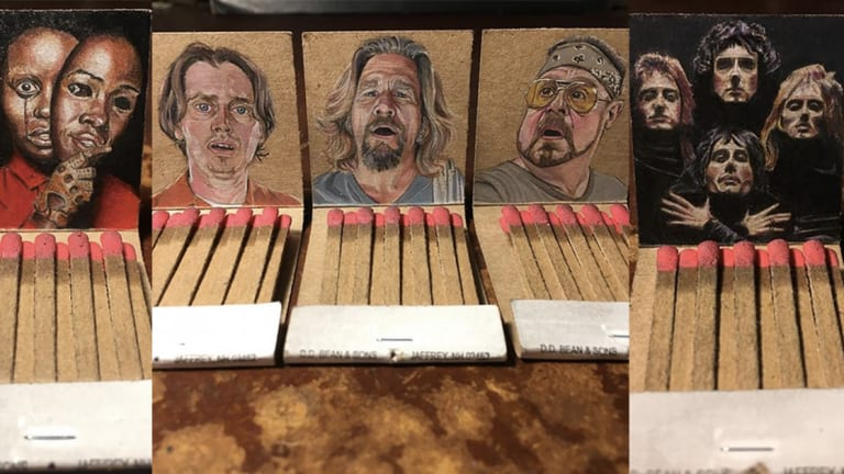 This Artist Creates Intricate Micro Portraits on Matchbooks