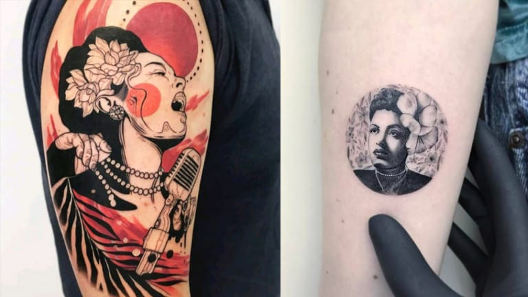 Sing the Blues with 15 Beautiful Billie Holiday Tattoos