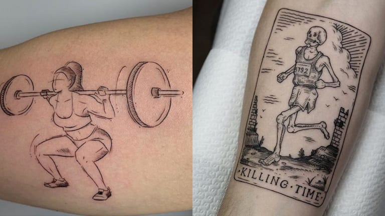 45 Tattoos To Help You Get In Shape