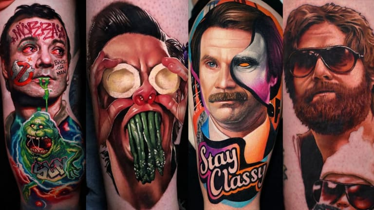 50 Tattoos of the Best Comedies of All Time