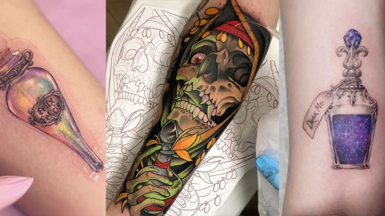 75 Perfect Potion Bottle Tattoos