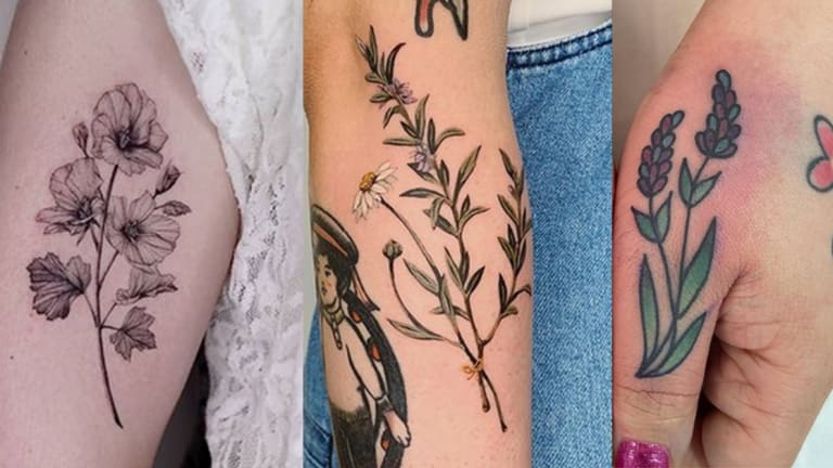 60 Excellent Herb Tattoos