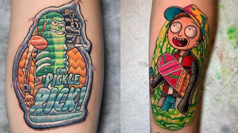Get Schwifty with These 'Rick and Morty' Tattoos