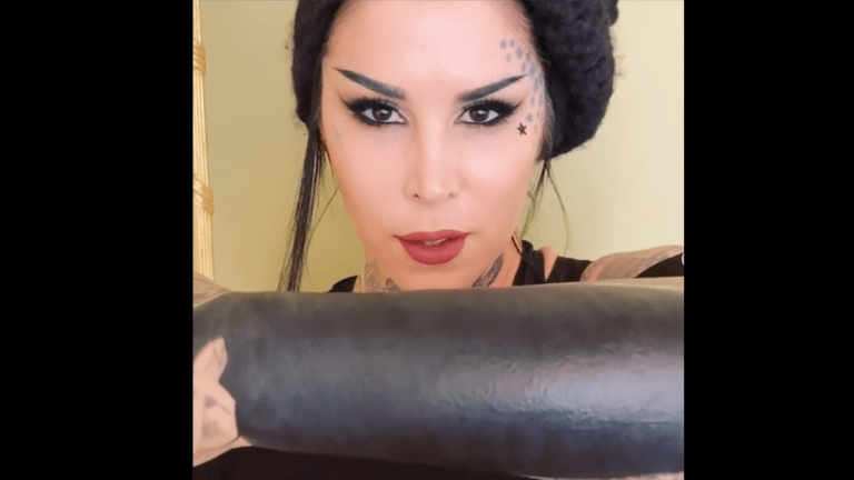 Kat Von D Puts Critics of Her Blacked Out Arm in Their Place