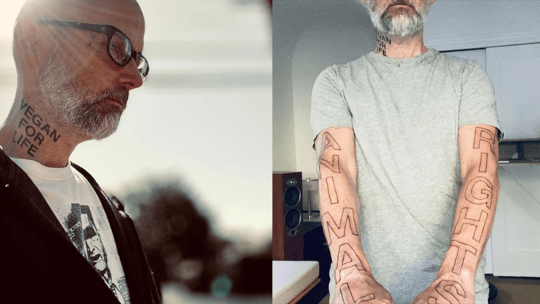Moby Gets a Massive Animal Rights Tattoos