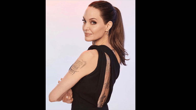Angelina Jolie Tells the Story of Her First Tattoo