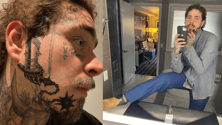 Post Malone Found Room For a New Face Tattoo