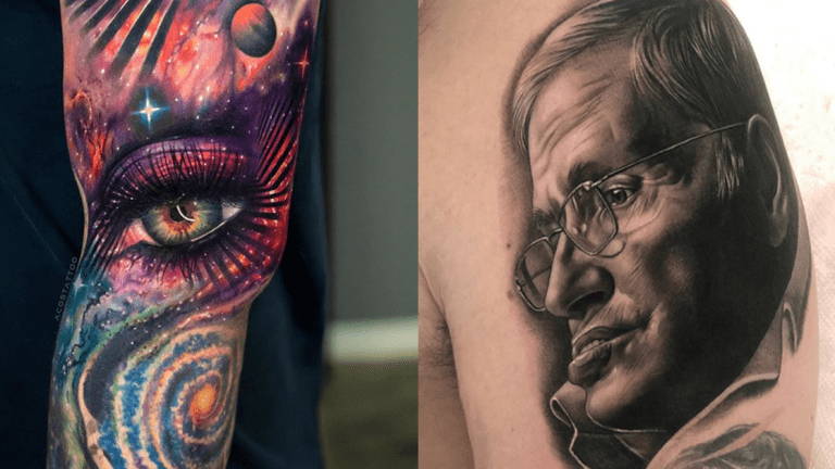 A Brief History of Cosmos Tattoos for Stephen Hawking's Birthday