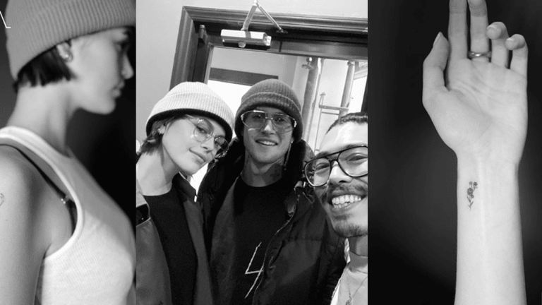 Kaia Gerber Gets Tattooed Alongside Her Brother