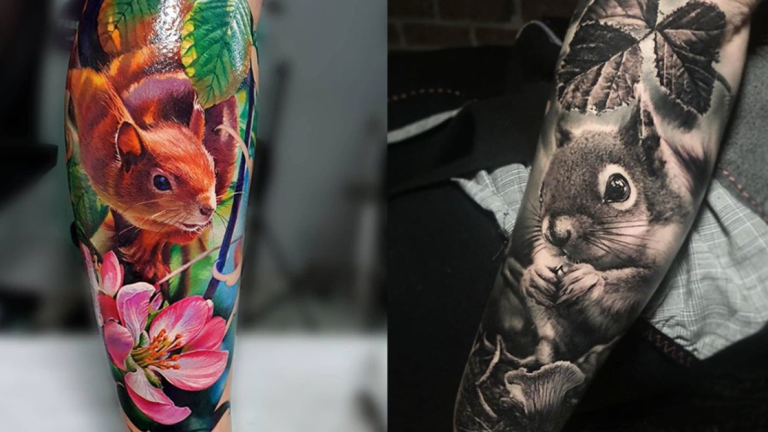 Squirrel Tattoos for National Squirrel Appreciation Day