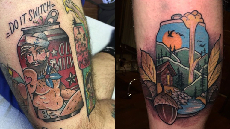 Grab a Six-Pack of Beer Can Tattoos