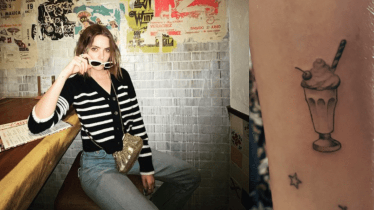 Ashley Benson Gets a Delicious Milkshake Tattoo