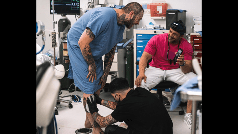 Post Malone Gets Tattooed At the Dentist's Office
