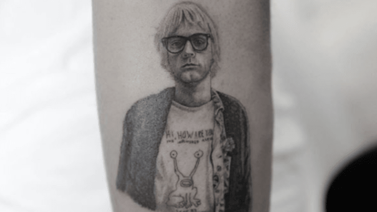 Kid Cudi Turns to Dr. Woo for a Tattoo Homage to Kurt Cobain