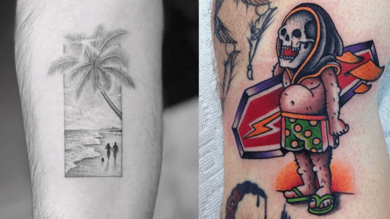 Beach Tattoos Make Summer Last Forever