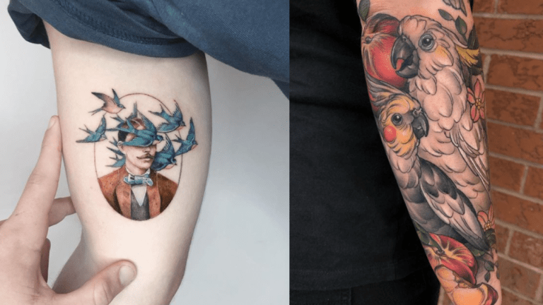 Majestic Bird Tattoos