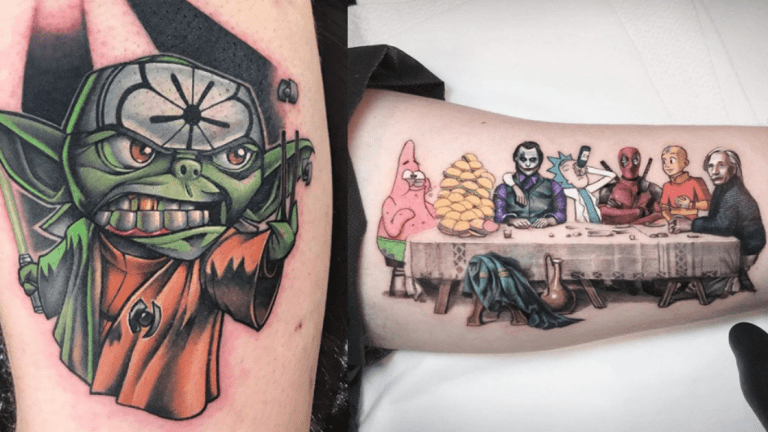 Pop Culture Mashup Tattoos