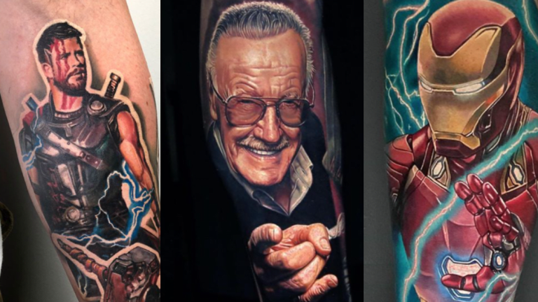 Honoring Stan Lee With Marvel Comics Tattoos