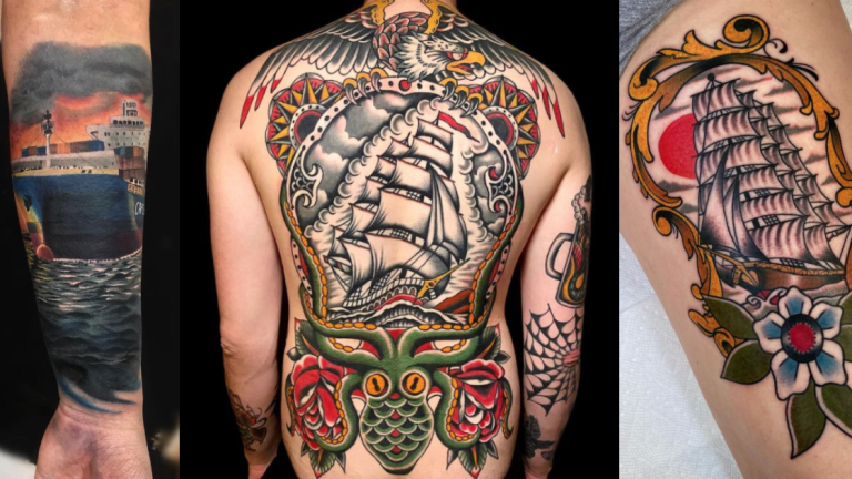 Ship Tattoos To Celebrate the Reopening of the Suez Canal