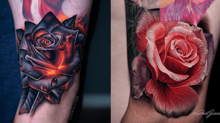 Rose Tattoos to Share With Your Sweetie