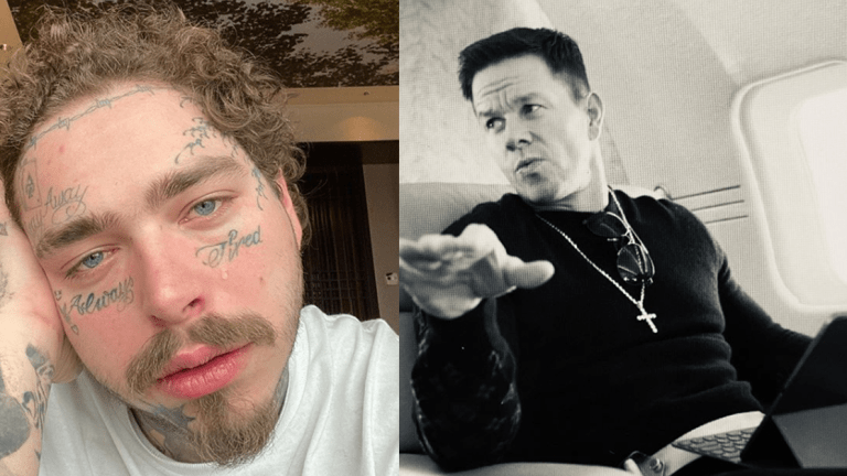 Mark Wahlberg Urges Post Malone to Cool It With the Face Tattoos
