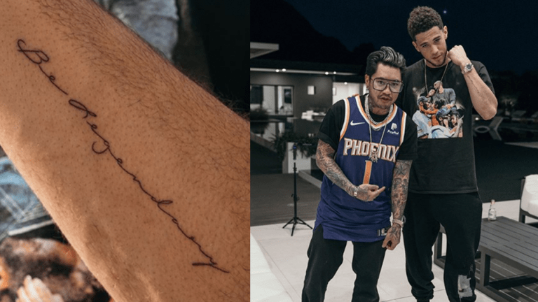 Devin Booker Gets a 'Legendary' Kobe Tattoo