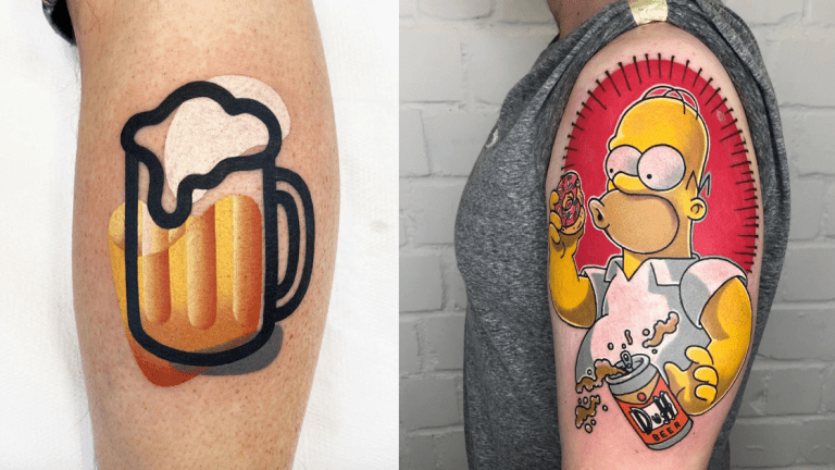 Raise a Glass to These Beer Tattoos