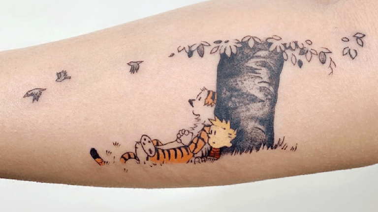 Let's Go Explore 'Calvin and Hobbes' Tattoos