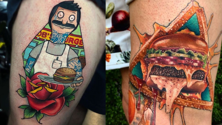Chow Down on These Burger Tattoos