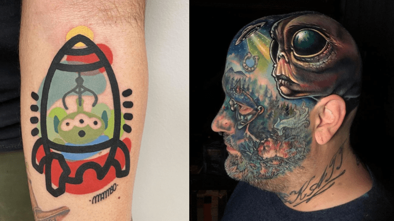 Out of This World Alien Tattoos