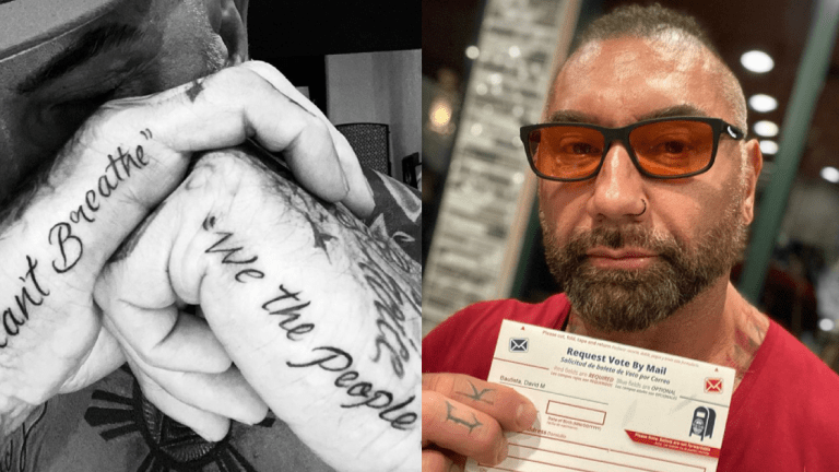 Dave Bautista Gets 'I Can't Breathe' Tattoo