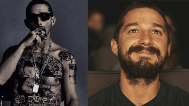 Shia LaBeouf Gets Whole Chest Tattooed for Role