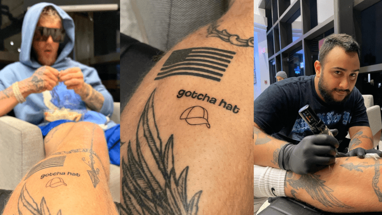 Jake Paul Was Bored at the Airport, So He Got Tattooed