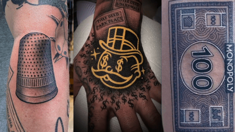 Do Not Pass Go Without These Monopoly Tattoos
