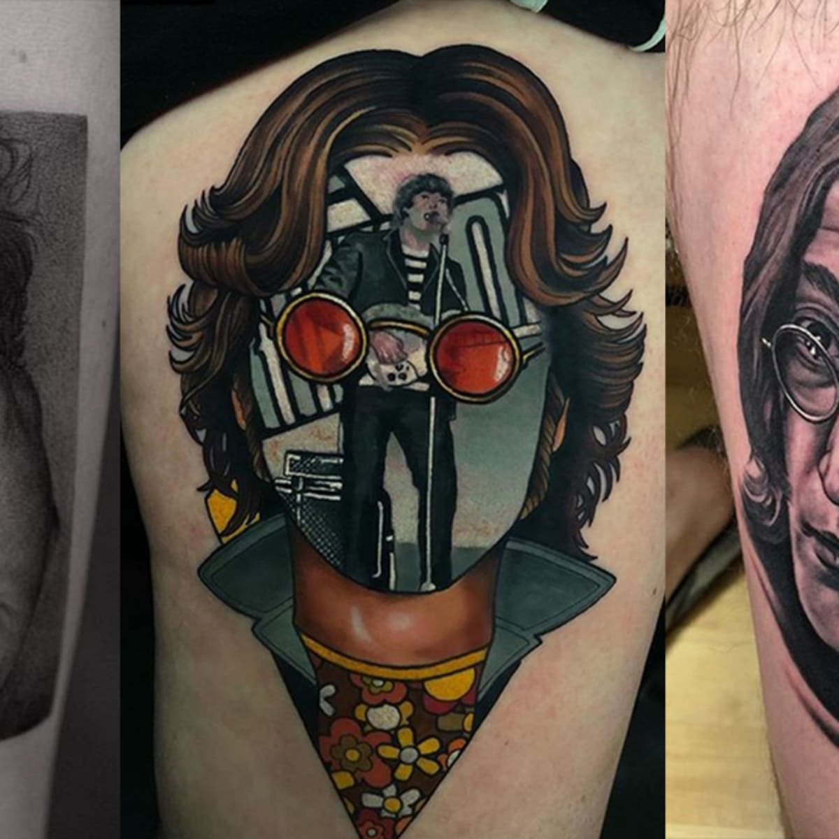 Honor The Anniversary Of John Lennon S Death With 20 Dreamy Tattoos Tattoo Ideas Artists And Models