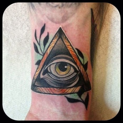 The Eye of Providence, a design commonly associated with freemasonry.