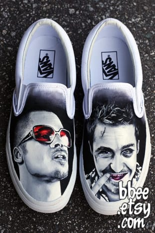 The first rule about Fight Club shoe art is you don't talk about Fight Club shoe art.