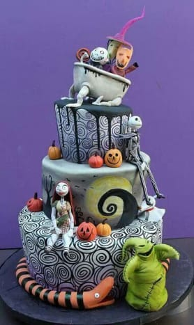 Professional Nightmare Before Christmas Tower Cake
