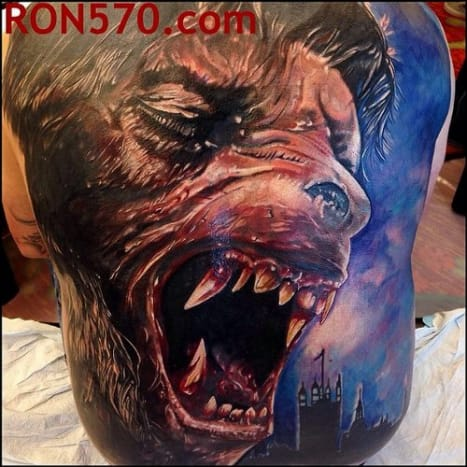 It's hard to believe that this amazing tattoo is a full back piece.