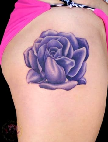 This rose is purple perfection.