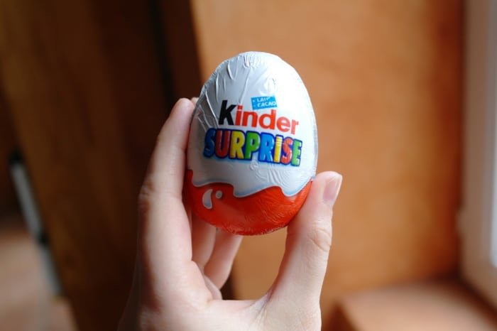 This is a Kinder Surprise egg.