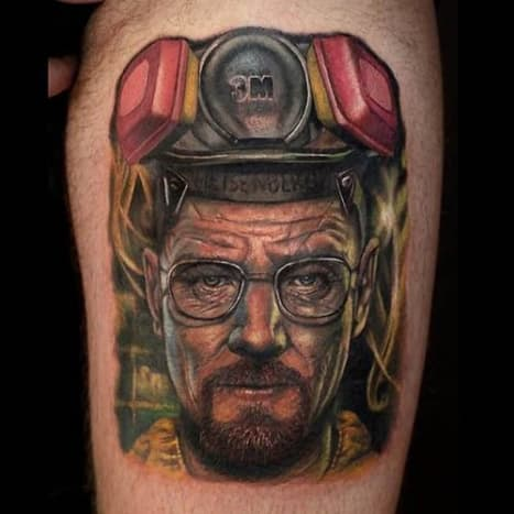 """A brilliant tattoo of the """"One who knocks."""""""