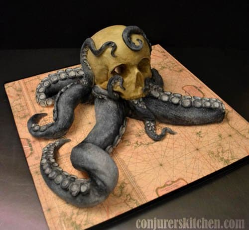 De Vetten created this masterpiece for Kraken Rum... of course she put some of the product in the cake as well.