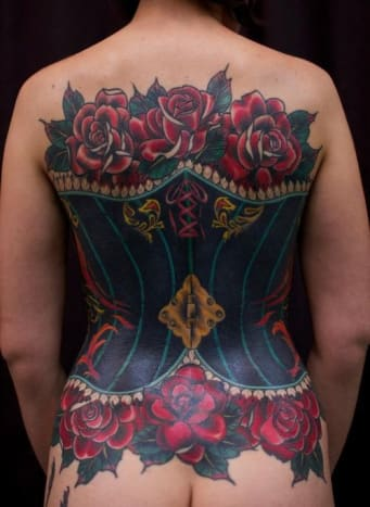 This is one sexy corset that you can never take off.