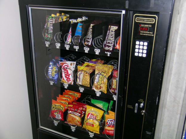 Potato chips or die!The chances of getting killed by a vending machine are 1 in 112 million.