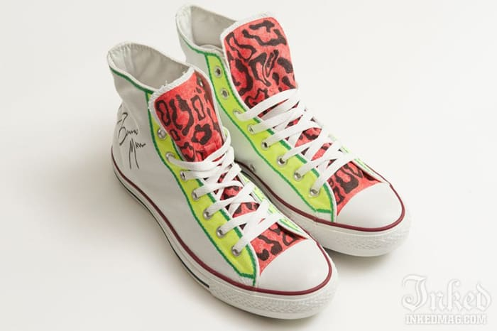 BRUNO MARS Custom Converse Sneakers In Their Shoes Charity Auction