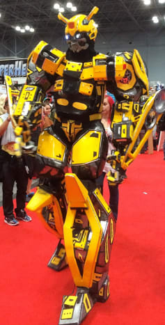 This may have not been a costume, we are willing to believe that this Bumblebee was a real life Transformer.