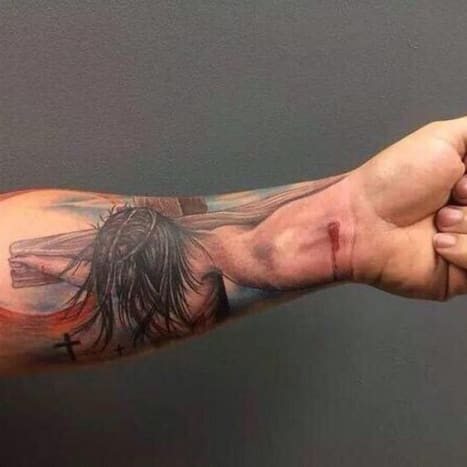 This forearm tattoowent viral, and rightfully so. Tattoo by Anthony Wayne